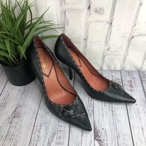 "Vince Camuto black pointy toes 4"" heels sz 10"